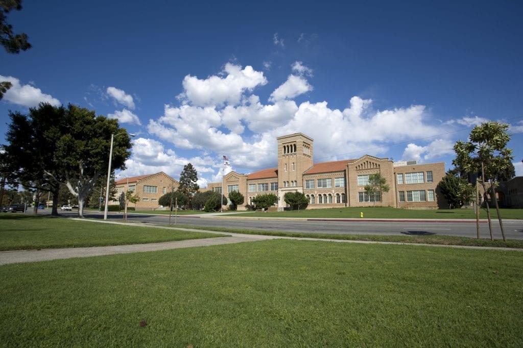 school building.