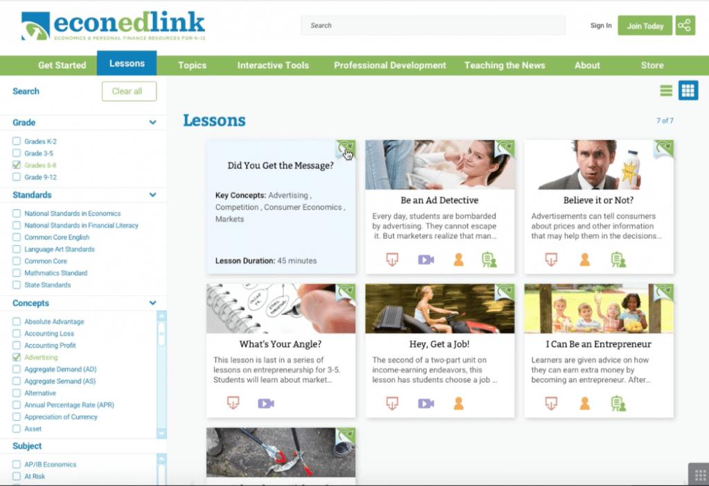 EconEdLink Market Research & UX Redesign