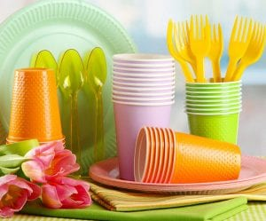 disposable plastic tableware