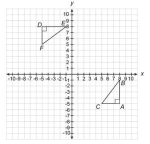 Triangles shown in grid